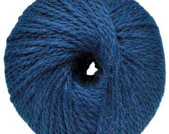 Blue yarn - Alpaca/wool - Bulky - 100 gr./ 191 yd.