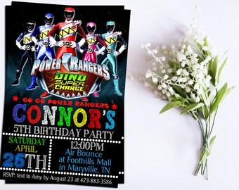 Power Ranger Invitation-Power Ranger Birthday-Power Ranger Party-Power Ranger Birthday Invitation-Power Ranger printable-invitation
