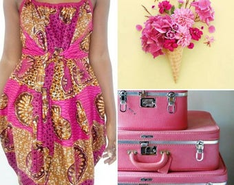 Kreo wax Fuchsia dress