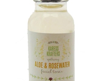 Rosewater & Aloe Facial Toner, Sample, Great for all skin types, Apple Cider Vinegar, Facial Cleaners, Tone, Balance, Renew