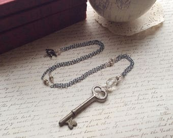 Key No. 2 - long skeleton key necklace repurposed recycled upcycled reclaimed