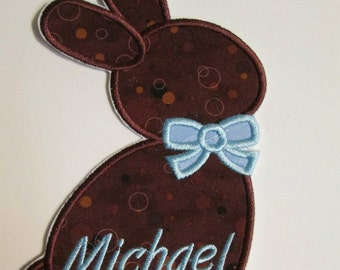 Iron On or Sew On Easter Bunny Appliques