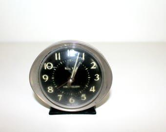 Vintage Alarm Clock, Westclox Baby Ben,  Black and Silver