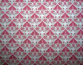 Fabric - Pink Art Nouveau print pima cotton lawn - dressmaking