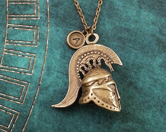 Spartan Necklace LARGE Spartan Helmet Necklace Spartan Warrior Necklace Personalized Jewelry Sparta Necklace Spartan Gift Spartan Helm Gift