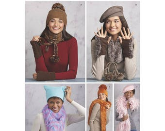 Simplicity Sewing Pattern 8531 Misses' Cold Weather Accessories