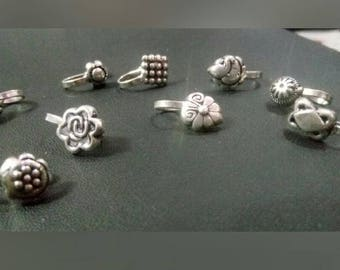 Silver Clip-on Nose Pins,Indian Jewelry,Ethnic,German Silver,Oxidized Silver,Bohemian,TribalJewelry,Banjara,Gypsy,BohoChic,Bollywood Jewelry
