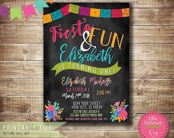 Fiesta Birthday Invitation, Printable, Fiesta, Birthday, Invite Printable, 5x7