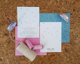 Showered With Love - Baby Shower Invitation - DIGITAL FILE
