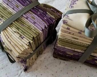 Lilac Ridge fat 16th bundle, 35 fat 16ths, designed by Jan Patek Quilts for Moda Fabrics