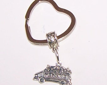 Sterling MOM'S TAXI Key Ring - Key Chain - Mother