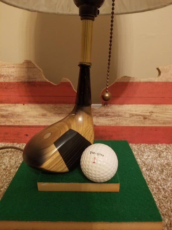 Superb Golf Lamp.Hand Made One Of A Kind. Golf Golf Ball Sports