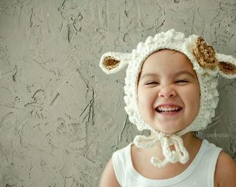 Lamb Hat, Animal Hat for Kids, Babies Winter Hat