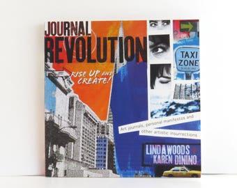 Journal Revolution book, mixed media book, craft book, used craft book, art journal book, art techniques, drawing ideas book