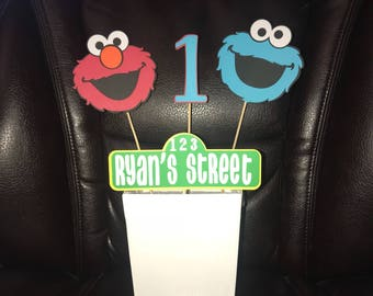 Elmo birthday decorations, elmo party decorations, Cookie Monster centerpiece, Sesame Street decorations, Sesame Street birthday decorations