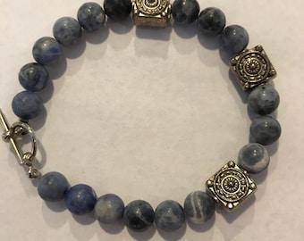 Swarovski crystal and bead bracelet