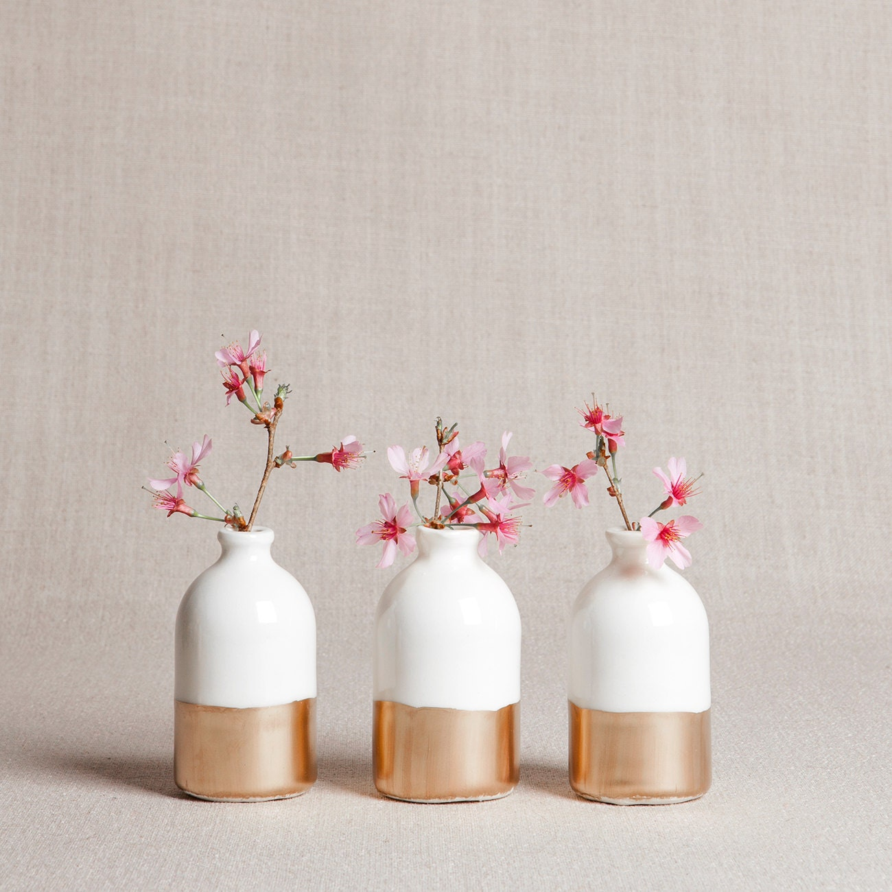 Ready to ship white minimalist bud vases set of three ready to ship white gold minimalist bud vases set of three reviewsmspy