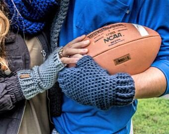 mens navy blue mittens. crochet fingerless gloves. mens texting mittens. mens winter accessories. navy blue driving mittens navy blue gloves