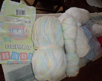 Lot of De-Stash Yarn -Baby Sport yarn and More for Crocheting and Knitting