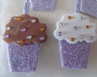 Scrapbooking embellishments stickers 6 cakes sequins and rhinestones