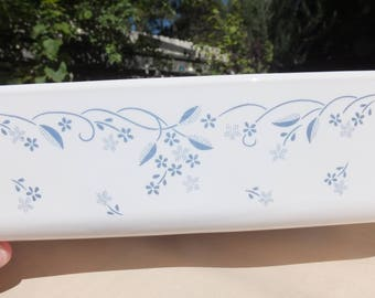 Corning Provincial Casserole, Vintage Provincial Corning Blue and White Casserole Dish A-21