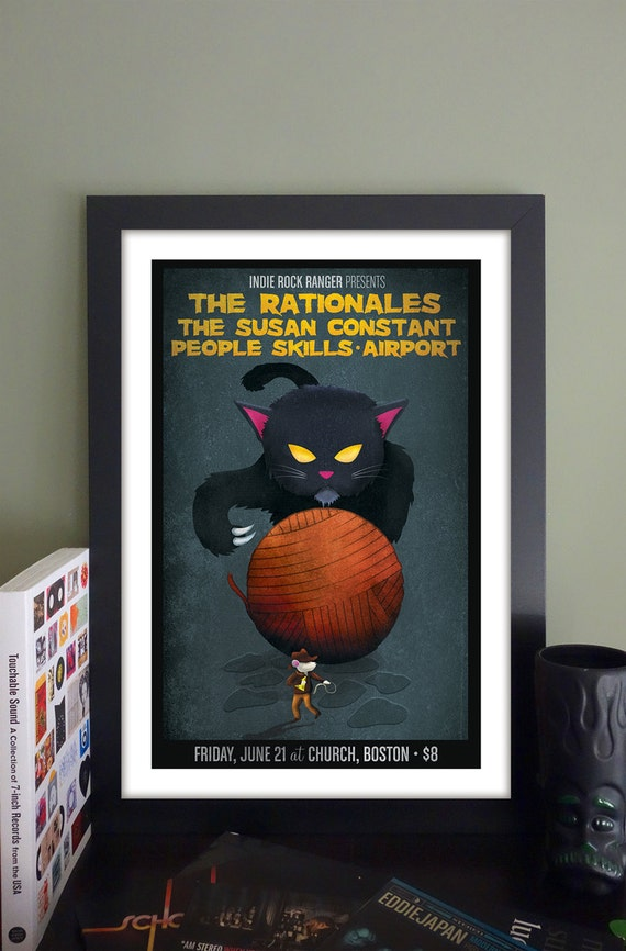 """The Rationales Gig Poster // Church, Boston MA 13""""x19"""""""