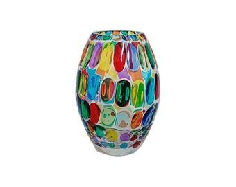 Bubble glass vase 200