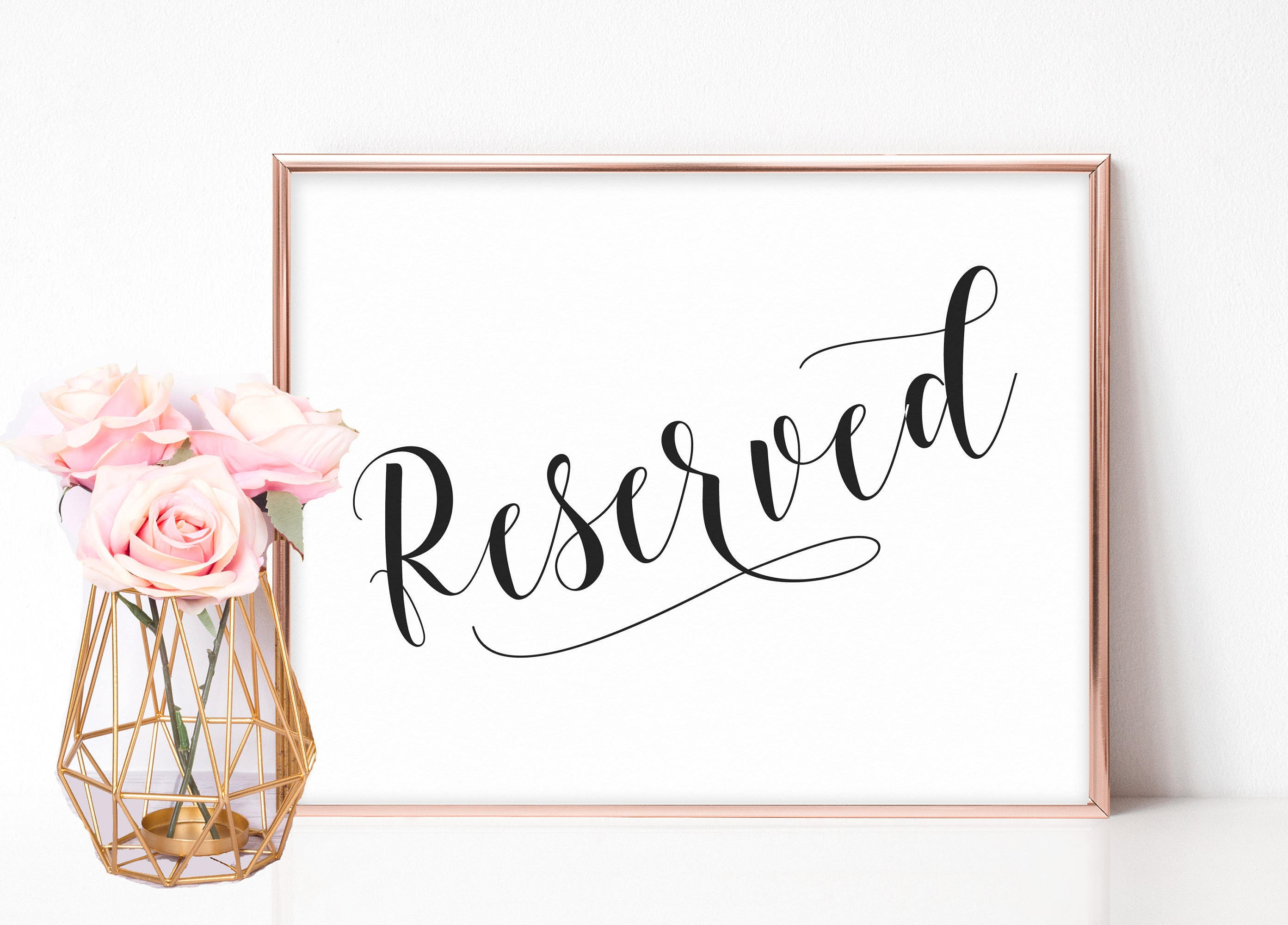 Wedding Reserved Sign Reserved Sign Weddings Reserved Seat