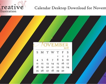 Digital Download: Desktop Calendar November 2018