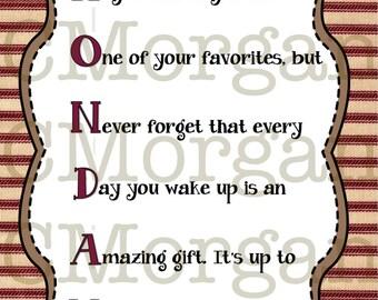 Monday Acronym Quote