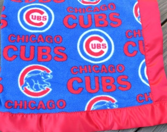Chicago Cubs Baseball Fleece Blanket Chicago Cubs blanket baby shower gift men Cubs Fan gift