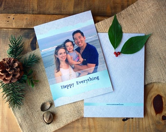 Holiday Cards, Happy Everything Holiday Photo Card, Modern Alternative Holiday Cards with Photo, Unique Christmas Card, Holiday Photo Cards