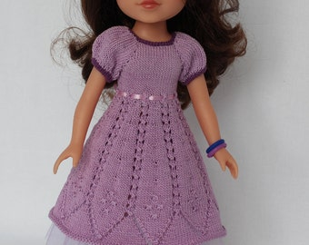 Lilac BELLA DRESS  for Paola Reina, Hearts For Hearts or Corolle Les Cheries