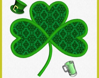 3 Leaf Clover-St. Patrick- Good Luck Embroidery/Applique Design - Shamrock