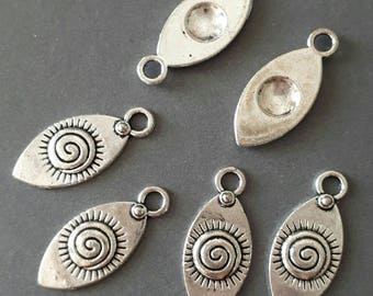 12pcs-silver Eye Charm, antique silver tone eye charm