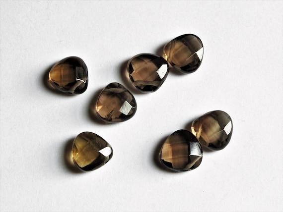 Sale!! Center pieces Focal beads Smoky quartz faceted teardrop beads 30x40 mm