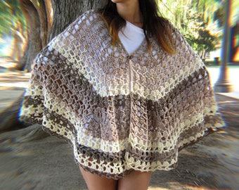 Lacey Earth shawl