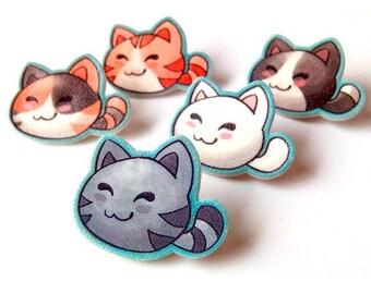 Cat lapel pin, Kawaii cat brooch, Cat lover gifts, Birthday gift, bag's pin