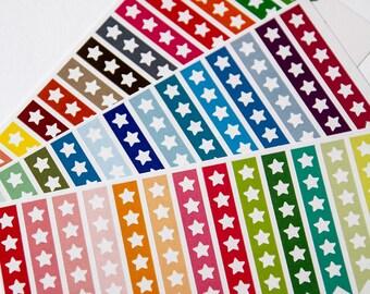 43 Flagge Aufkleber mit Stern, wichtige Liste, Sticker, Scrapbook-Aufkleber, Erinnerung Checkliste Aufkleber Eclp Filofax glücklich Planer tun