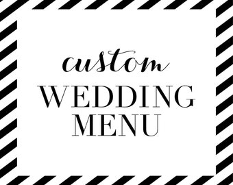 Custom Wedding Menu Design