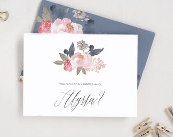 Will You Be My Bridesmaid. Bridesmaid Proposal Card. Maid of Honor Proposal. Flower Girl Proposal. Will You Be My Maid of Honor Proposal.