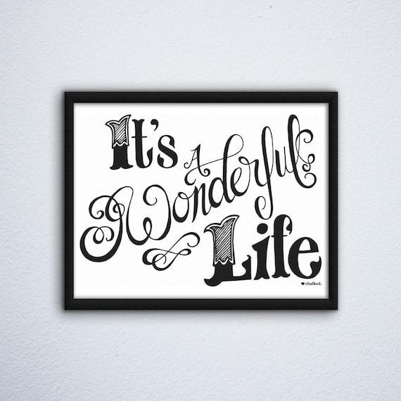 It's a Wonderful Life Print | Holiday Wall Art Print |  Christmas Printable Art | Digital Download | Poster | Digital Print | Holiday Decor