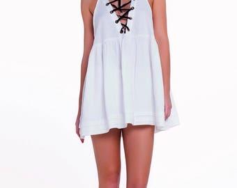 White Linnen Mini Dress