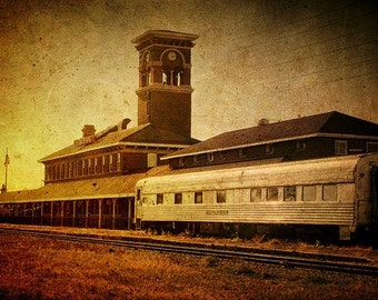 Titletown Brewing Company, Green Bay Wisconsin, Beer, Train, Micro Brewery, Large Wall Art, Home Decor