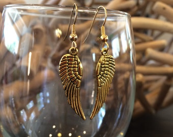 Angel Wing Earrings, Angelic Earrings, Silver Angel Wings