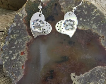 Paws Fine Silver Earrings