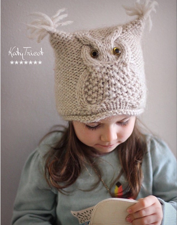 Toddler Knit Owl Hat