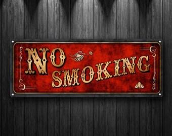 No Smoking Metal Sign, Mancave, Vintage, Retro, Art Décor, Bar Décor, Office Décor  MEM2031