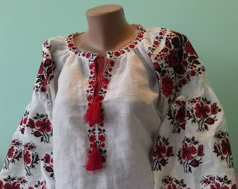 Ukrainian blouse vyshyvanka/Vyshyvanka/Peasant blouse/Vita - Style/embroidered shirt/ blouse/Ukrainian clothing/women's clothing