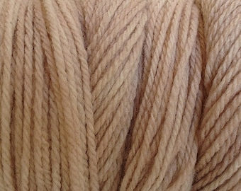 Paper Beige Worsted Weight Hand Dyed Merino Wool Yarn